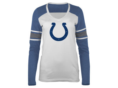 Womens Indianapolis Colts 5th & Ocean by New Era Blue Core Tri-Blend Long Sleeve T-Shirt