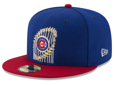 Chicago Cubs New Era MLB World Series Trophy 59FIFTY Cap ...