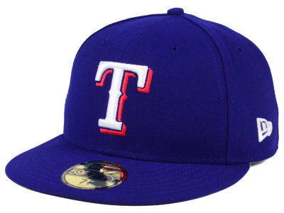 Texas Rangers New Era MLB Authentic Collection 59FIFTY Cap ...