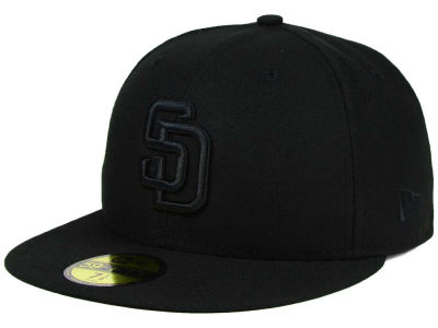 San Diego Padres MLB Black on Black Fashion 59FIFTY Cap Hats
