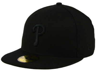 Philadelphia Phillies MLB Black on Black Fashion 59FIFTY Cap Hats