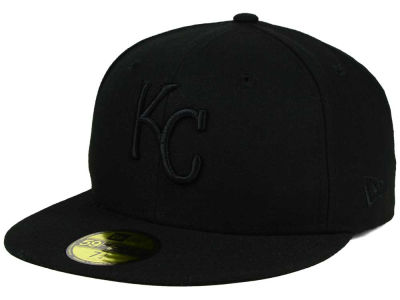 Kansas City Royals MLB Black on Black Fashion 59FIFTY Cap Hats