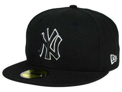 New York Yankees MLB Black and White Fashion 59FIFTY Cap Hats