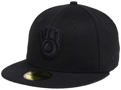 Milwaukee Brewers MLB Triple Black 59FIFTY Cap Hats