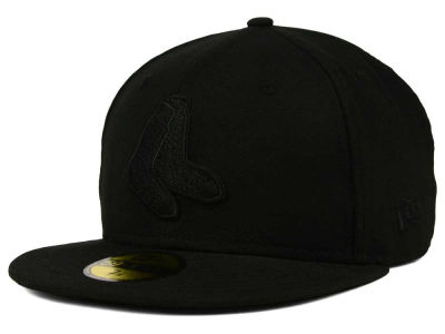 Boston Red Sox MLB Black on Black Fashion 59FIFTY Cap Hats