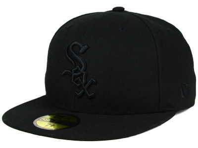 Chicago White Sox MLB Black on Black Fashion 59FIFTY Cap Hats