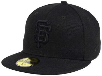 San Francisco Giants New Era MLB Triple Black 59FIFTY Cap  33cd7f95003