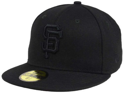 San Francisco Giants MLB Black on Black Fashion 59FIFTY Cap Hats