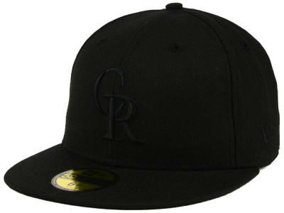 Colorado Rockies MLB Black on Black Fashion 59FIFTY Cap Hats