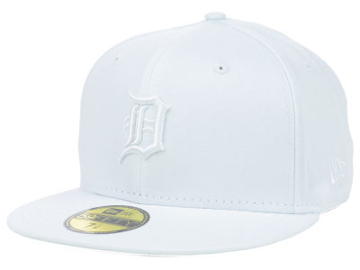 Detroit Tigers MLB White on White Fashion 59FIFTY Cap Hats