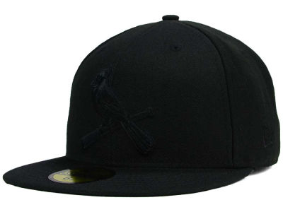 St. Louis Cardinals MLB Black on Black Fashion 59FIFTY Cap Hats