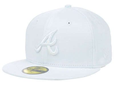 Atlanta Braves MLB White on White Fashion 59FIFTY Cap Hats