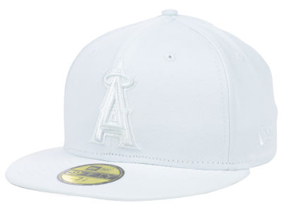 Los Angeles Angels MLB Triple White 59FIFTY Cap Hats