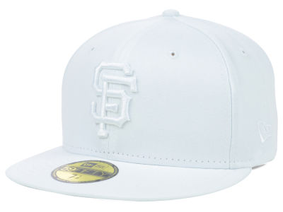 San Francisco Giants MLB White on White Fashion 59FIFTY Cap Hats