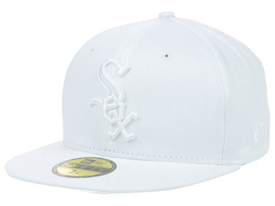 Chicago White Sox MLB Triple White 59FIFTY Cap Hats