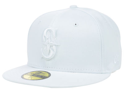 Seattle Mariners MLB White on White Fashion 59FIFTY Cap Hats
