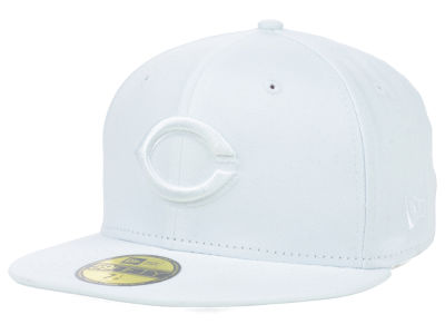 Cincinnati Reds MLB White on White Fashion 59FIFTY Cap Hats