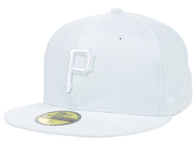 Pittsburgh Pirates MLB White on White Fashion 59FIFTY Cap Hats