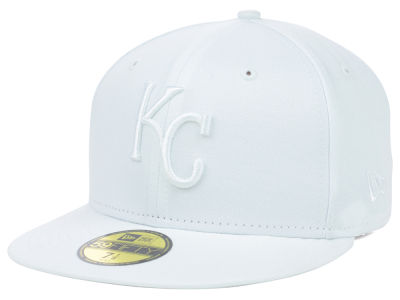 Kansas City Royals MLB White on White Fashion 59FIFTY Cap Hats