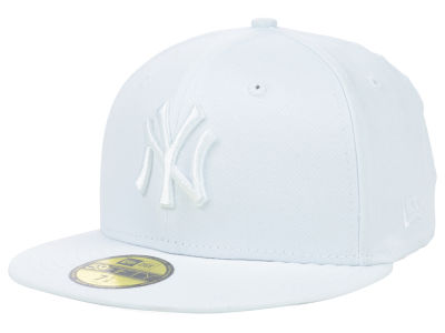 New York Yankees MLB Triple White 59FIFTY Cap Hats