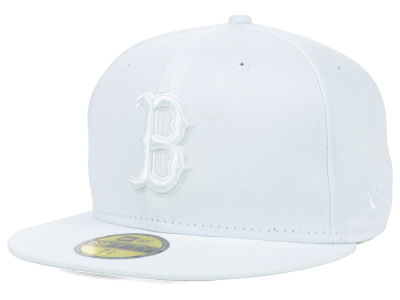 Boston Red Sox MLB White on White Fashion 59FIFTY Cap Hats