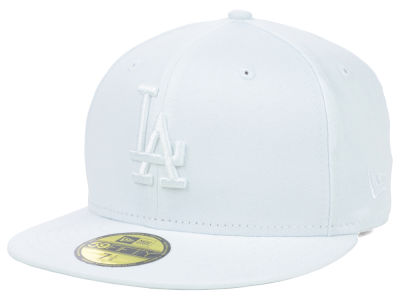 Los Angeles Dodgers MLB White on White Fashion 59FIFTY Cap Hats