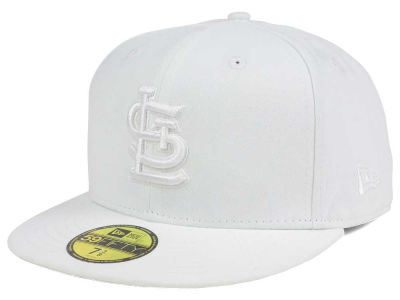 St. Louis Cardinals MLB White on White Fashion 59FIFTY Cap Hats
