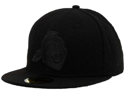 Atlanta Braves MLB Black on Black Fashion 59FIFTY Cap Hats