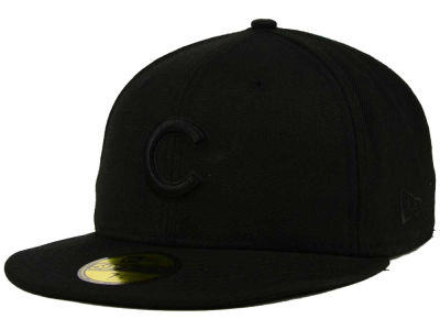 Chicago Cubs MLB Triple Black 59FIFTY Cap Hats