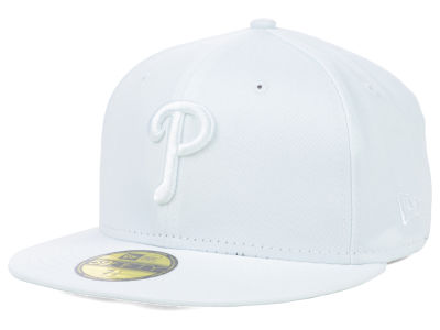 Philadelphia Phillies MLB White on White Fashion 59FIFTY Cap Hats