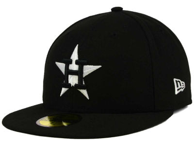 Houston Astros MLB Black and White Fashion 59FIFTY Cap Hats