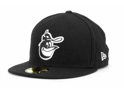 Baltimore Orioles MLB Black and White Fashion 59FIFTY Cap Hats