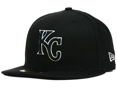 Kansas City Royals MLB Black and White Fashion 59FIFTY Cap Hats