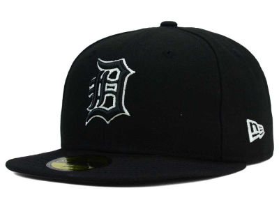 Detroit Tigers MLB Black and White Fashion 59FIFTY Cap Hats