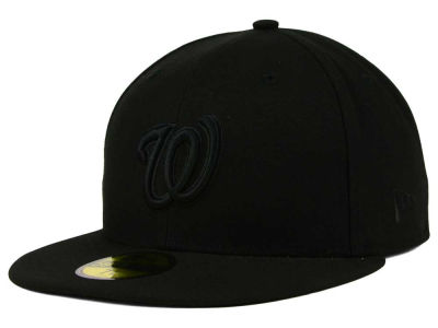 Washington Nationals MLB Black on Black Fashion 59FIFTY Cap Hats