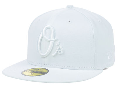 Baltimore Orioles MLB White on White Fashion 59FIFTY Cap Hats