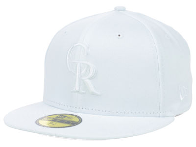Colorado Rockies MLB White on White Fashion 59FIFTY Cap Hats