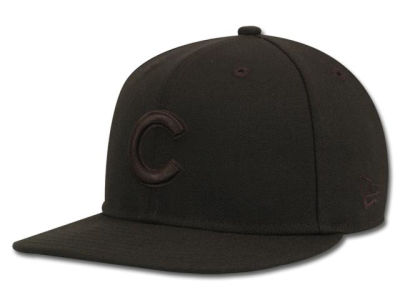 Chicago Cubs MLB Black on Black Fashion 59FIFTY Cap Hats