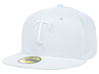 Texas Rangers MLB White on White Fashion 59FIFTY Cap Hats