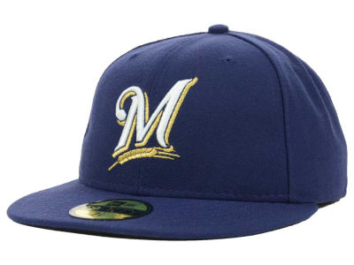 Lids Custom Hats >> Milwaukee Brewers New Era MLB Authentic Collection 59FIFTY ...