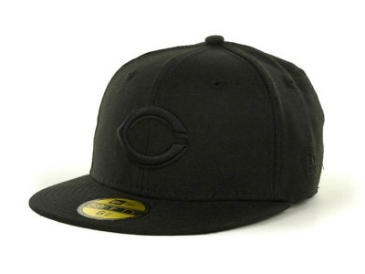Cincinnati Reds MLB Black on Black Fashion 59FIFTY Cap Hats