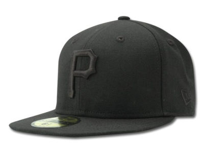 Pittsburgh Pirates MLB Black on Black Fashion 59FIFTY Cap Hats