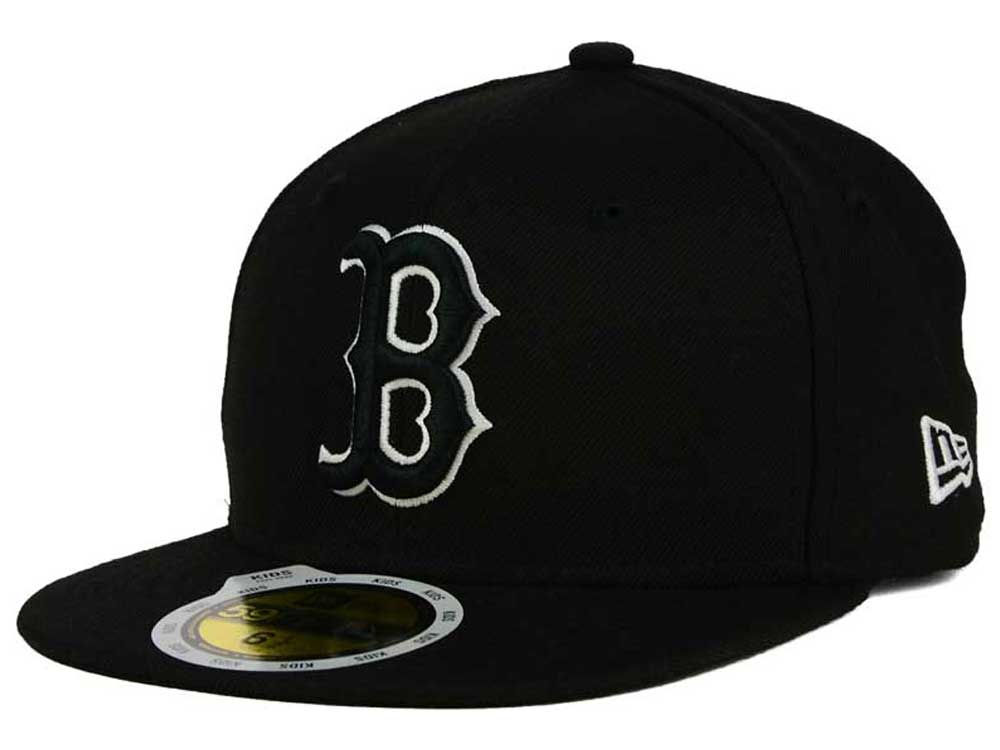 timeless design 058f0 79603 on sale Boston Red Sox New Era MLB Black and White Fashion 59FIFTY Cap