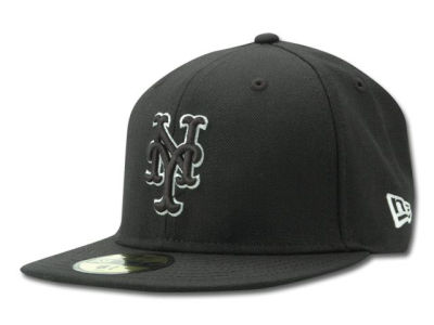 New York Mets MLB Black and White Fashion 59FIFTY Cap Hats