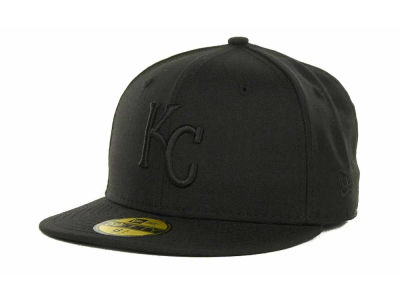 Kansas City Royals MLB Triple Black 59FIFTY Cap Hats