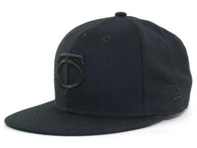 Minnesota Twins MLB Black on Black Fashion 59FIFTY Cap Hats