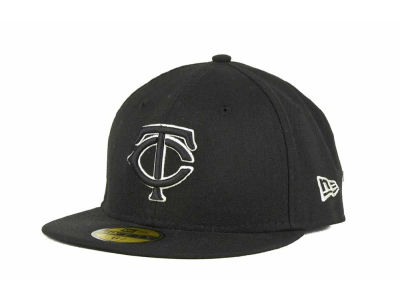 Minnesota Twins MLB Black and White Fashion 59FIFTY Cap Hats