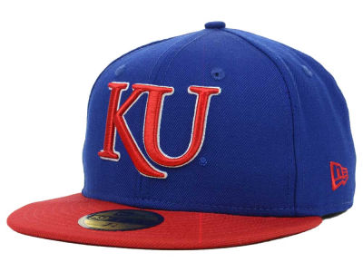 Kansas Jayhawks NCAA 2 Tone 59FIFTY Cap Hats