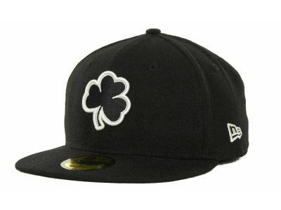 huge discount 91220 847b3 Notre Dame Fighting Irish New Era NCAA Black on Black with White 59FIFTY  Cap   lids.com