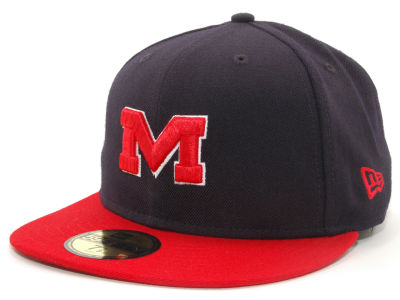 Ole Miss Rebels NCAA 2 Tone 59FIFTY Cap Hats